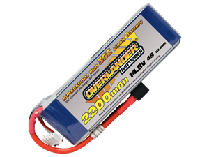 Overlander 2200mAh 14.8v 35c LiPo Battery - Supersport Pro