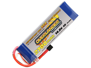 Overlander 2700mAh 14.8v 35c LiPo Battery - Supersport Pro