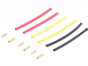 Century UK KDS Banana Plug 3.0mm x 3 Pairs With Heat Shrink