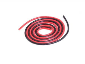 Century UK KDS 500mm Silica Wire 18AWG 1mm, Red And Black